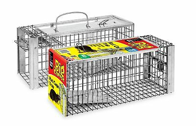 The Big Cheese Rat Cage Trap (Large, Humane, Live-Catch Trap, Use Indoors and...