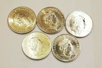 **5 x 2019 10 Cent Coins - New Effigy on the Obverse - From Mint Bag