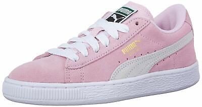 Kids Puma Girls unisex-child Suede Jr Low Top Lace Up, Pink,  Size Big Kid 6.0