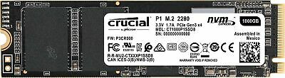Crucial CT1000P1SSD8 P1 1 TB (3D, NAND, NVMe, PCIe, M.2, Solid State Drive)