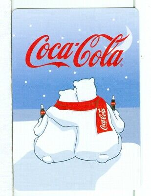 "Single Wide Playing Card Coca Cola ""Polar Bears"" New Unlisted"