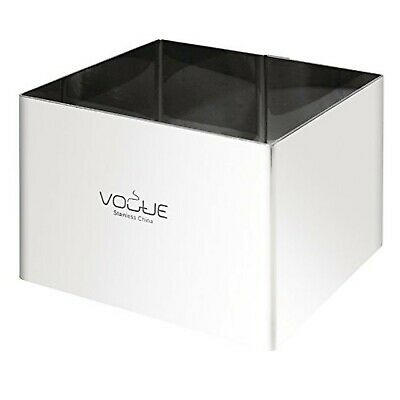 Vogue Square Mousse Rings 6X8X8cm Stainless Steel Extra Deep Cake Cutter Mould
