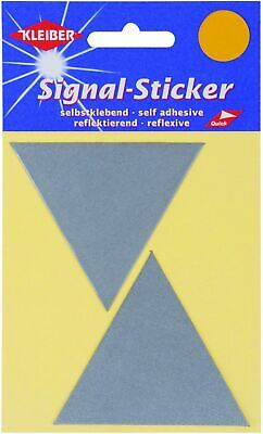 Kleiber Large Triangle Reflective Stickers, Silver