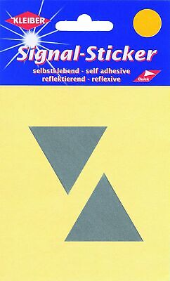 Kleiber Small Triangle Reflective Stickers, Silver