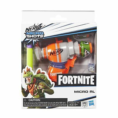 Nerf Fortnite RL Nerf MicroShots Dart-Firing Toy Blaster and 2 Official Nerf ...