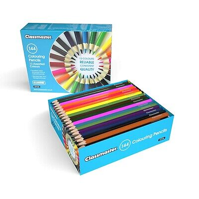 Classmaster CP144 Class box of Colouring Pencils, Assorted Colours (Pack of 1...