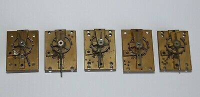 5 French Platform Escapements, for spares parts or repair.