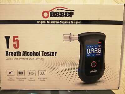 Oasser Alcohol Tester Alcohol Breathalyzer Semiconductor Professional Digital LC