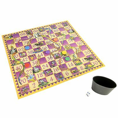 HTI Toys Traditional Games Snakes & Ladders Family Board Game Set