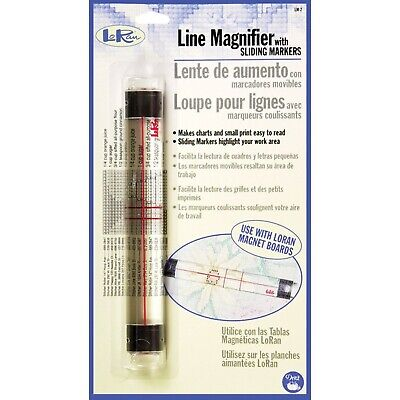 Dritz Loran Line Magnifier W/Sliding Markers .875-inch x 6.5-inch, Other, Mul...
