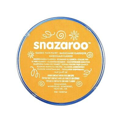 Snazaroo Face and Body Paint, 18 ml - Ochre Yellow (Individual Colour)