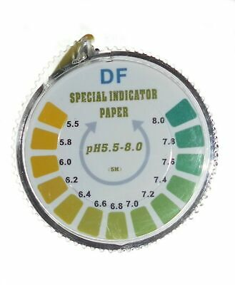 pH Indicator Litmus Test Paper Strip Roll, 5.5 - 8 For Water Urine And Saliva...