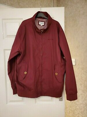 Lambretta Mens Burgundy Red Harrington Bomber MOD SKA Scooter Jacket - Size 1XL