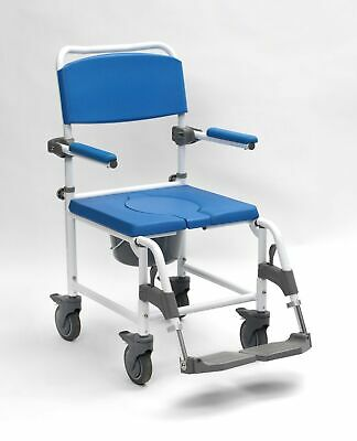 Drive Aston Mobile Commode and Shower Chair with Four Braked Castors