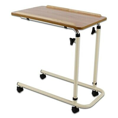 Days Overbed Table with Castors, Adjustable Height and Angle, Portable and St...