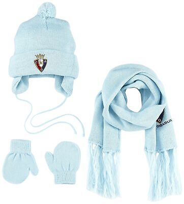 Club Atletico Osasuna Setosa Scarf Loom Set and Hat, Red/Black, One Size
