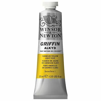 Winsor & Newton Griffin 37ml Alkyd Fast Drying Oil Colour Tube - Cadmium Yell...