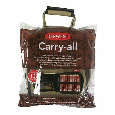 Derwent 2300671 Carry-All Bag, Canvas, 130 Pencil Plus Accessory and Sketchbo...