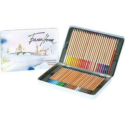 White Nights Watercolour 271584036 Pencils-Tin of 48, Plus Free Brush