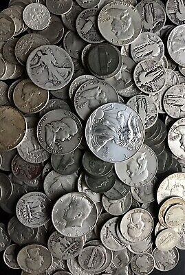 HUGE SILVER SALE!!! Lot of Old US Silver Coins 3 Pounds Pre-1965