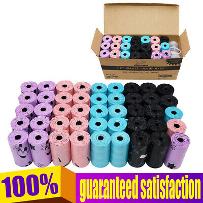 900 Dog Poop Bags for Pet Waste Degradable Bags With a Dispenser For Pet Outside