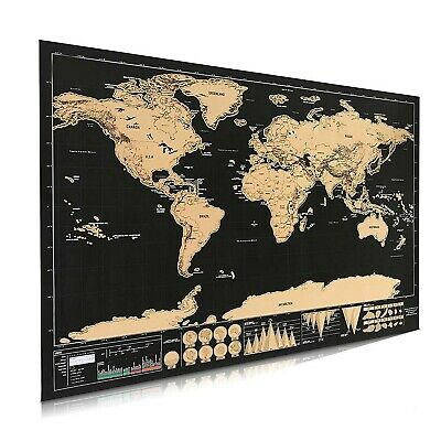 Scratch off Map World Poster -Maps International Scratch The World Travel Map...
