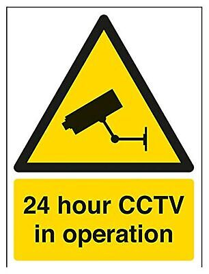 VSafety 24 Hour CCTV In Operation Warning Security Sign - 150mm x 200mm - Sel...