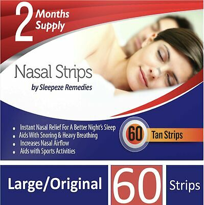 Nasal Strips Large x60 by Sleepeze Remedies   Nose Strips to Stop Snoring and...