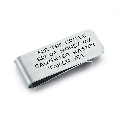 CJ&M Money Clip For Dad - Father's Day Gift - For The Little Bit Of Money My ...