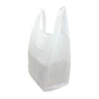 GIANT Extra Large Vest Plastic Carrier Bags Strong 22Micron 16x24x30 (100)