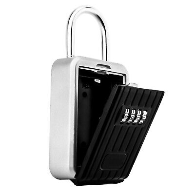 Key Lock Box with 4-Digit Combination, Lock Box for House Key, Wall Mounted W...