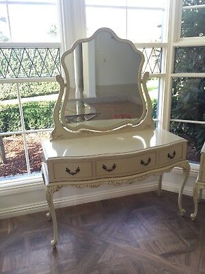 Antique dressing table and bedside