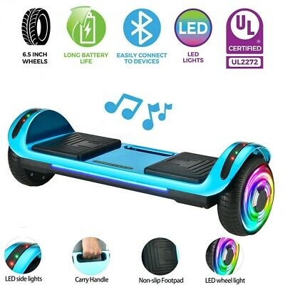 """UL 6.5"""" Wheel Electric Hoverboard Self Balancing Scooter Bluetooth LED No Bag"""