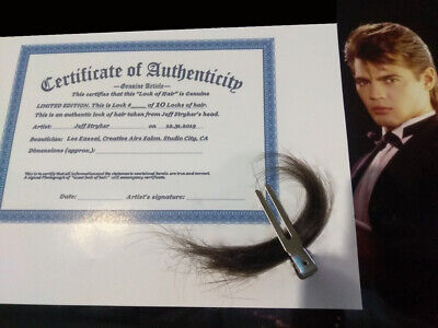 Jeff Stryker Lock of hair+ Certificate+ Signature+ Photo=1 of 10 Limited Edition
