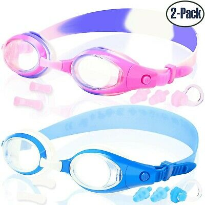 COOLOO 2-PACK Kids Swimming Goggles Junior Children Girls Boys Early Teens Ag...