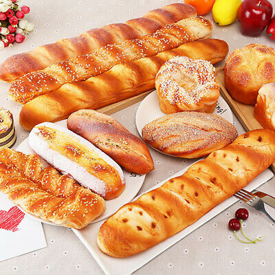 Lifelike Fake Food Melonpan Round Bread Kitchen Pretend Bakery Staging Props