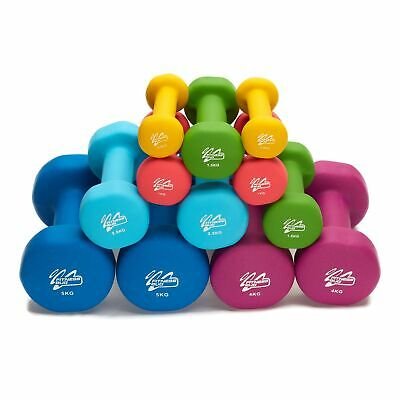 Neoprene Dumbbell Weights Home Gym Fitness Aerobic Exercise Iron Pair Hand - ...