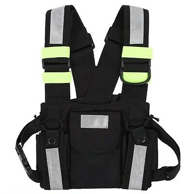 Tangxi Yellow Reflective Chest Bands,Radio Walkie-talkie Reflective Vest with...