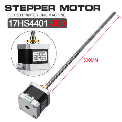 Nema 17 Stepper Motor Stainless Steel 8mm 300mm Lead Screw T8 Nut For 3D  G