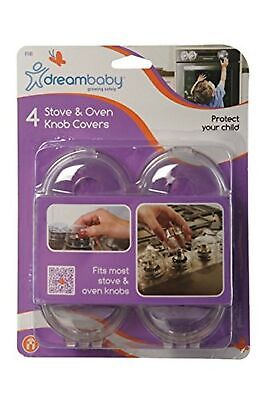 Dreambaby Stove Knob Covers (Pack of 4, Transparent)