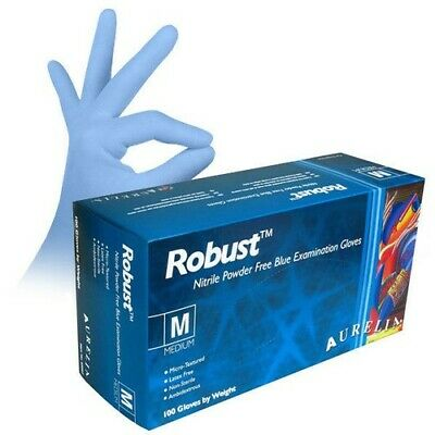 Aurelia *ROBUST* Quality NITRILE Powder Free Disposable Gloves 1 - 300 FREE P&P