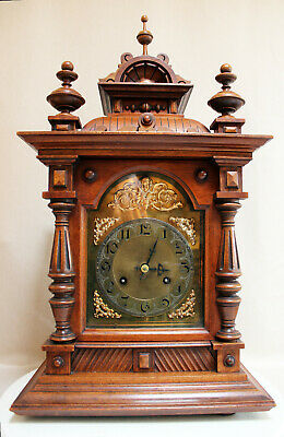 HUGHE JUNGHANS Table Clock pre 1900 impressive Big Castle Model