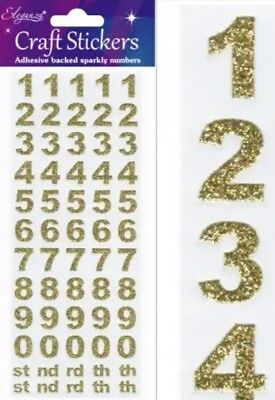 Bold Gold Alphabet Glitter stickers for cards and crafts