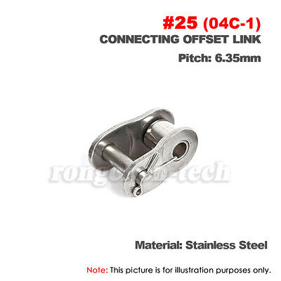 #25 Stainless Roller Chain Connecting Link Full Link 04C For #25 Chain x2Pcs