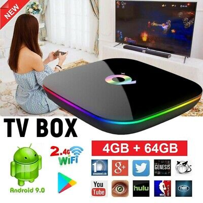 Android 9.0 Multimédia TV Box Q Plus Quad-Core 4GB+32GB/64GB 6K WiFi USB 3.0