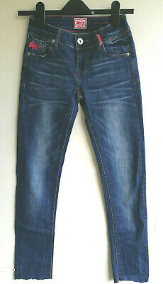 Superdry Rose Denim Super Skinny Boys Girls Pants Jeans Blue Colour W28; L27;