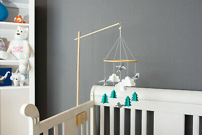 Felt Bird Mobile | Minimalist Hanging Crib Mobile | Mobile by Joey Co.