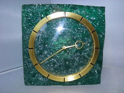 Stunning Rare Jaeger Lecoultre Green Translucent Lucite Clock - Fully Working