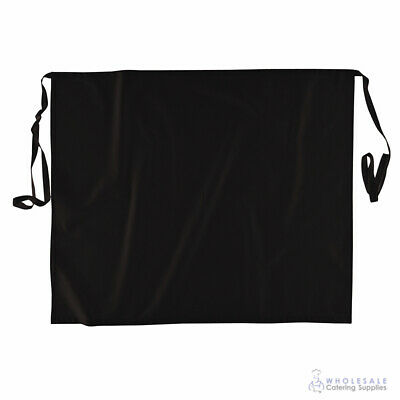 Apron Black Kitchen Half Waist Wide Chef Cook Waiter Barista Aprons Portwest