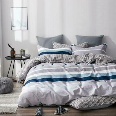 Single/KS/Double/Queen/King/Super K 100% Cotton Quilt/Duvet Cover Set-Blue Mind